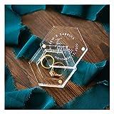 Caja de Anillo de Boda Personalizada, Caja de Anillo Hexagon