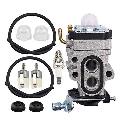 Powtol Mckin WYA-1-1 Carburetor fits Redmax BCZ3060TS EZ25005 BCZ2400S BCZ2500 GZ25N23 GZ25N14 BCZ2600S BCZ2600SU BCZ2500S BCZ2460S BCZ2600 Trimmer Brush Cutter Blower with Fuel Filter Repower Kit