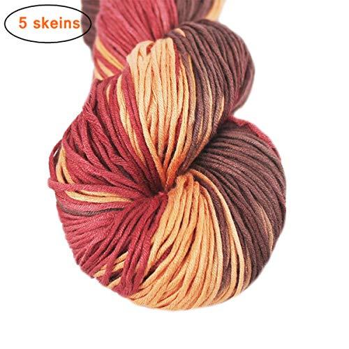 Lotus Yarns 100% Bamboo Yarn Hand Knitting Yarn 5X50g Hanks (24)