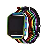 Bandmax Compatible for Rainbow Silica Gel Fitbit <span class='highlight'><span class='highlight'>Blaze</span></span> Bands, LGBT Pride Replacement Watch Band Sport Strap Accessories with Colorful Frame Compatible Fitbit <span class='highlight'><span class='highlight'>Blaze</span></span> Smart Fitness Watch…