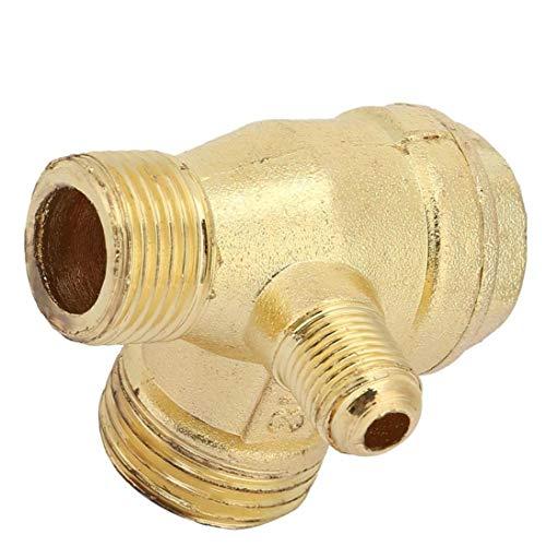 FeelMeet Compresor de Aire de la válvula de retención de latón de 90 Grados Rosca Macho del Tubo Conector válvula de retención de Piezas de Repuesto 20x16x10mm