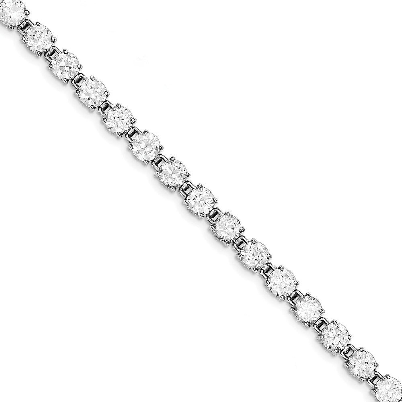 Beautiful Sterling silver 925 sterling Sterling Silver Rhodiumplated CZ Bracelet
