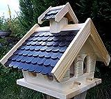 Naturholz-Schreinermeister Vogelhaus XL Vogelhäuser Vogelfutterhaus Vogelhäuschen aus Holz...