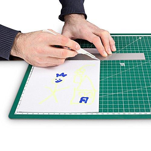 Tapis de d/écoupe Cutting Mat PRETEX Tapis de d/écoupe Resistant 45 x 30 cm A3 en vert fonc/é avec surface