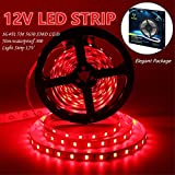 Led Strip Lights, IEKOV 5630 SMD 300LEDs Non-Waterproof Flexible Xmas Decorative Lighting Strips, LED Tape, 5M 16.4Ft DC12V (Red)