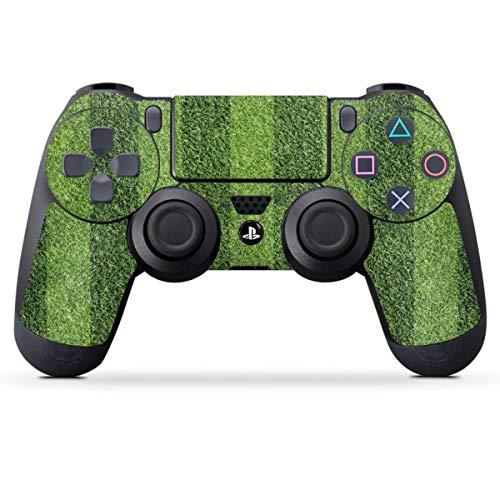 DeinDesign Skin kompatibel mit Sony Playstation 4 PS4 Controller Folie Sticker Fußball Rasen Wiese