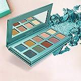 CIBBCCI Professional 10 Colors Pigmented Eye Shadow Palette Pop Colors - 3 Matte + 7 Shimmer - Creamy Texture Blendable Eyeshadow Makeup Kit