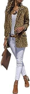 Howely Women's Casual Slim-Fit Fashion Leopard Print Cardigan Small Blazer