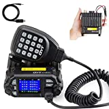 QYT KT-8900D Dual Band Mini Car Ham Radio Mobile Transceiver VHF UHF 136-174/400-480MHz Compact Amateur Two Way Radios +...