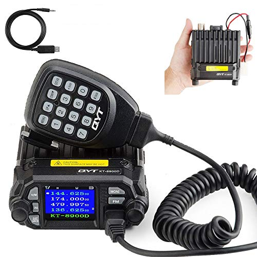 QYT KT-8900D Dual Band Mini Car Radio Mobile Transceiver VHF UHF Compact Programming Cable