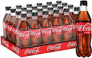 Coca-Cola Zero Carbonated Soft Drink, Pet Bottle - 500 ML (Pack of 24)