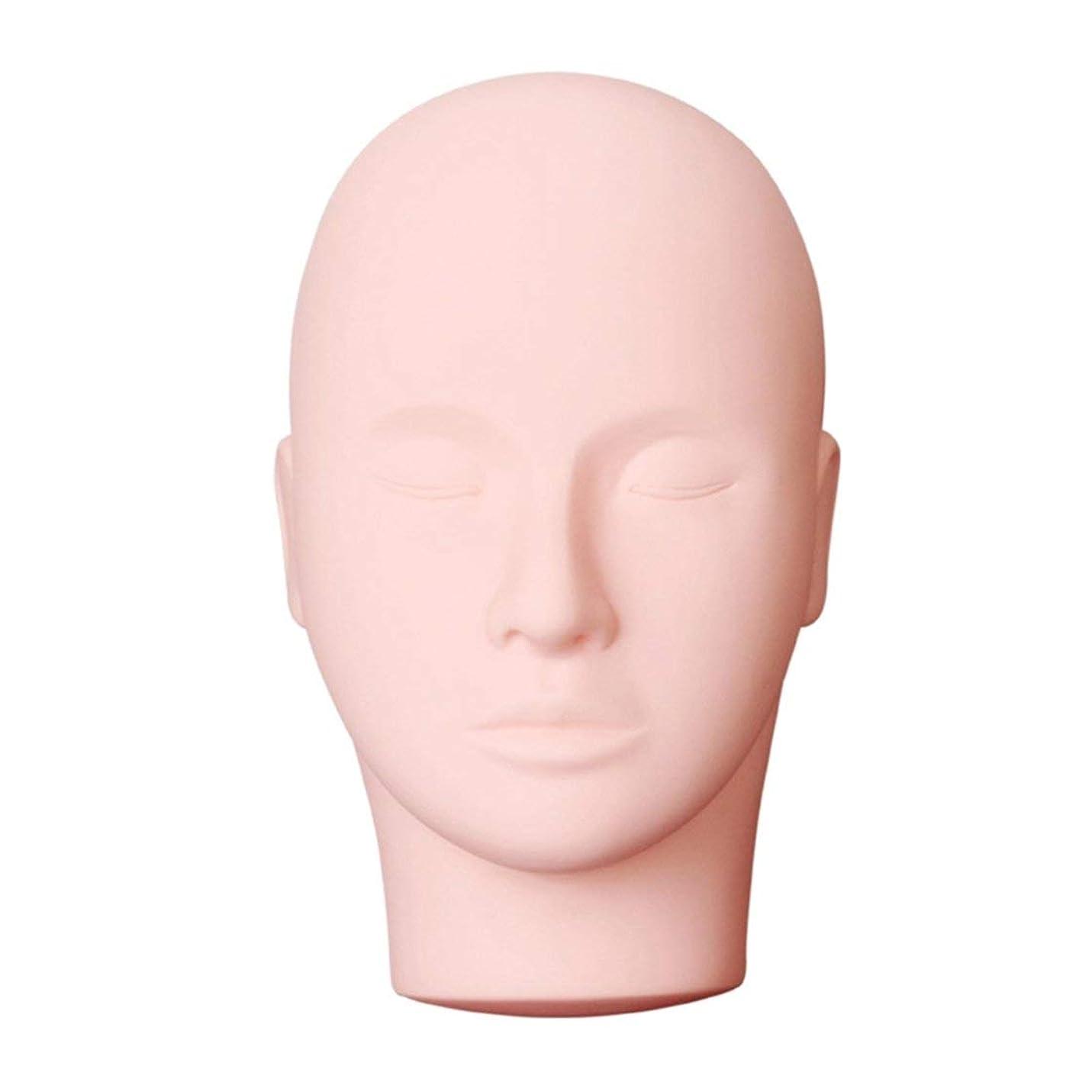 魅力ベリー酸化する美容メイクアップまつげ練習マネキンプロマッサージ化粧トレーニング美容マネキン人形顔頭モデル (色:黒)(Rustle666)