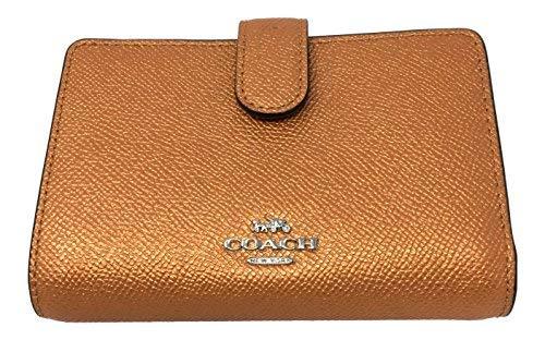 Coach Crossgrain Leather Medium Corner Zip Wallet F23256 Tang