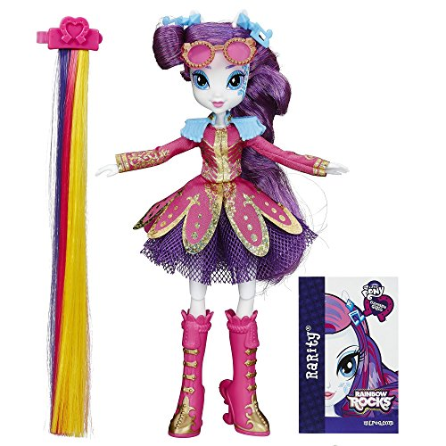 My Little Pony – Equestria Girls: Rainbow Rocks – Coiffure Tendance Rarity – Poupée 23 cm