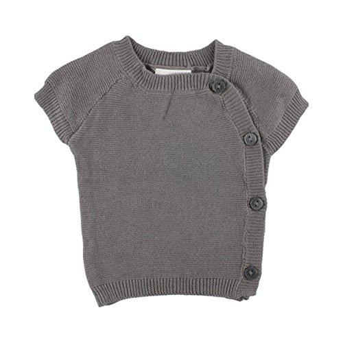 FIXONI LITTLE BEE Le Gilet en Maille à Manches Courtes pour prématuré Top bébé vêtements bébé, 01-71 Grey Melange