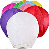 Nuluphu 100% ECO Biodegradable Flying Chinese Sky Lanterns, No Assembly Required(no Metal Wires) Mix Wish Lights (Pack of 16) (Huge)