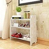 GQQ Hgdd Wpc Shoe Rack, Storage Bench – Closet, Bathroom, Kitchen, Entry Organizer, 3Tier Space Saver Shoe Rack Shoe Shelf/Fiore