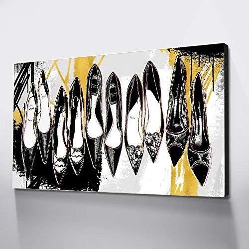 tzxdbh muurkunst, canvas, damast, hoge haken, decoratie voor de kamer, fotoafdruk op canvas, borden en printen, vintage borden, 40 x 60 cm