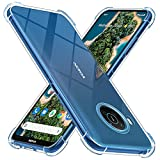 Peakally Crystal Clear Kompatibel mit Nokia X10/X20 Hülle, Soft Silikon Dünn Transparent Hüllen [Stoßdämpfung] [Anti Slip] TPU Schutzhülle Hülle Handyhülle für Nokia X10/X20