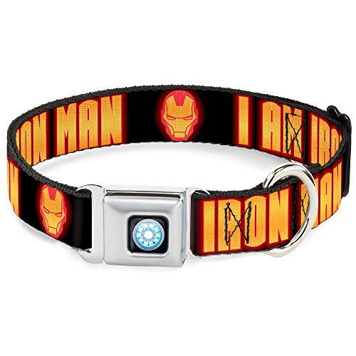 Buckle Down 9–15'' imd-Iron Hombre ARC Reactor Full Color Collar de Perro