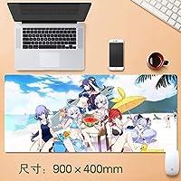 Honkaiインパクト3マウスパッド大型マウスパッド、ゲーミングマウスマットパッドカスタムプロフェッショナルグラフィティマウスパッド、ステッチエッジ、理想デスクカバーするために、コンピュータのキーボード、PCおよびラップトップ90 * 40センチメートル (サイズ : Thickness: 3mm)