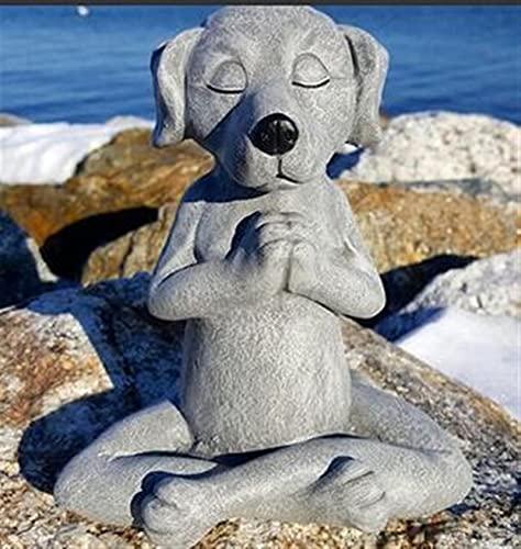 JOMYO 2pcs Gnomos y Duendes, Estatua de Rana polivina de la estatuilla de Yoga de jardín, Meditating Zen Buddhism Rana Estatua, Escultura de Animales, Oficina de Resina HOF Adorno de decoración
