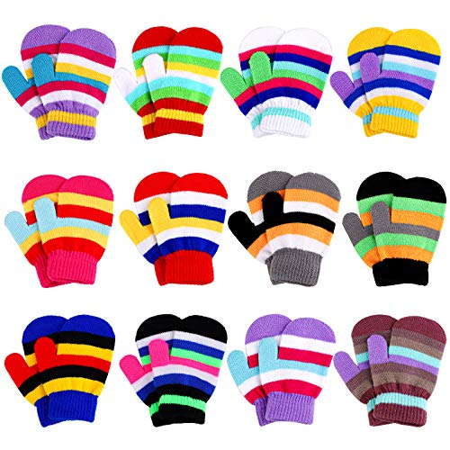 Motarto 12 Pairs Toddler Mittens Warm Winter Gloves Stretch Knit...