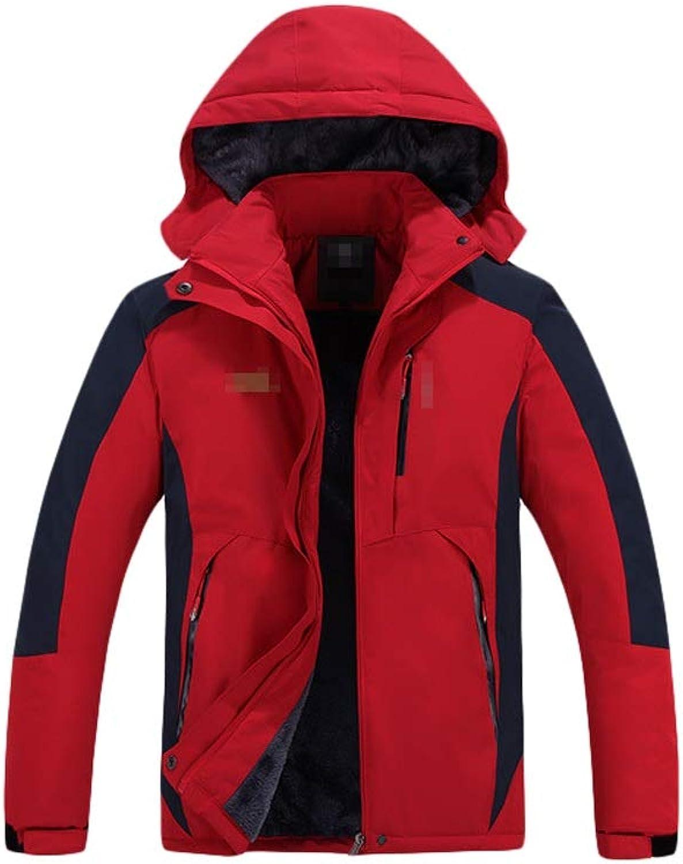Ski Jacket Outdoor Coat Mens Plus Velvet Jacket Warm Cotton Mountain Rain Jacket,Comfortable and Warm