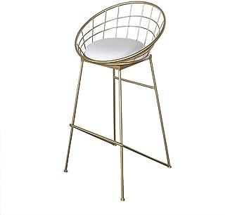 QTQZDD Barstools Chair Cushions High Stool Cushions Padded Dining Chairs as Kitchen stools Bars Breakfast stools Gold Metal Brackets Maximum Load Capacity 150 kg, Metal