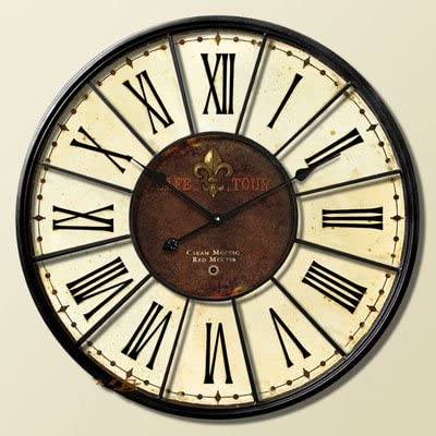 Y-Hui Silent watch large living room wall clock hanging wooden Watch,8 inches
