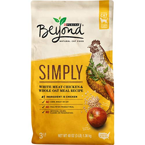 Purina Beyond Natural Limited Ingredient Dry Cat Food, Simply White Meat Chicken & Whole Oat Meal Recipe - 3 lb. Bag (00017800171038)
