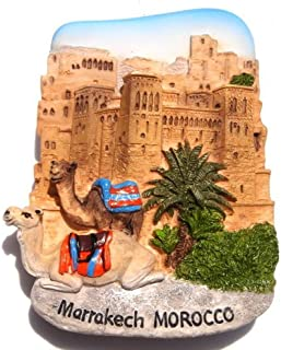 Kasbah of Ait Ben Hadou Marrakech Morocco, High Quality Resin 3d Fridge Magnet