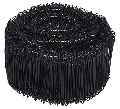 Novatool Drahtsackverschluss 1000 Stück 1,4 x 120mm Schwarz ummantelt Rödeldraht Verschlussdraht Bindedraht Sackverschlüsse
