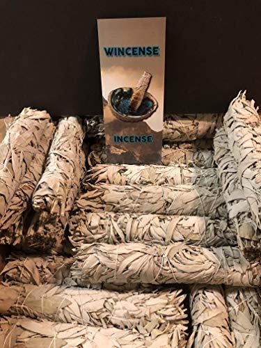 White Sage Extra Large 9'' Bundle Smudge Incense 25 pcs + brochure About Incense and SAGE