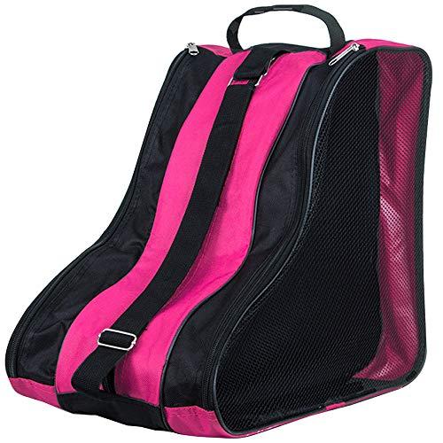 YOFASEN Kinder und Erwachsene Schlittschuhtasche - Rollschuhe Tasche Wasserabweisend Ice Skate Tasche Bag Unisex Rosa