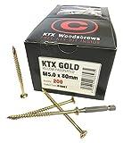 Concepto distribución 10087M5.0X 80Mm KTX profesional madera Plus libre oro?puntas de tornillo (, 200unidades)