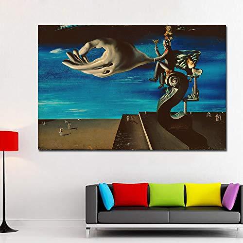 GJQFJBS Leinwanddruck Abstrakte Kunst Uhr Leinwand Kunst Malerei Wandbild Wohnzimmer Dekoration A1 60x90 cm