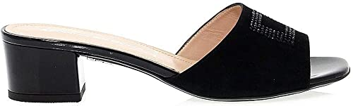 femmes Serena Femme femmes4231 Noir Suède Sandales