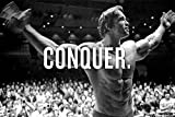 POP Home Store Conquer - Arnold Schwarzenegger Motivational Poster Large Bodybuilding Pictures Wall 36x24 Inch
