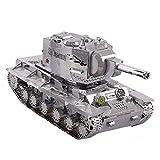 Hehilark Juguete Puzzle,3D Metal Puzzle War 2 Rusia KV 2 Tank Building Model Kit YM-N022-S DIY 3D Laser Cut Ensamblar Juguetes para Adultos