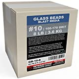 #10 Glass Beads - 8 lb or 3.6 kg - Blasting Abrasive Media (Extra Fine) 100-170 Mesh or Grit - Spec No 10 for Blast Cabinets Or Sand Blasting Guns - Small Beads for Cleaning and Finishing