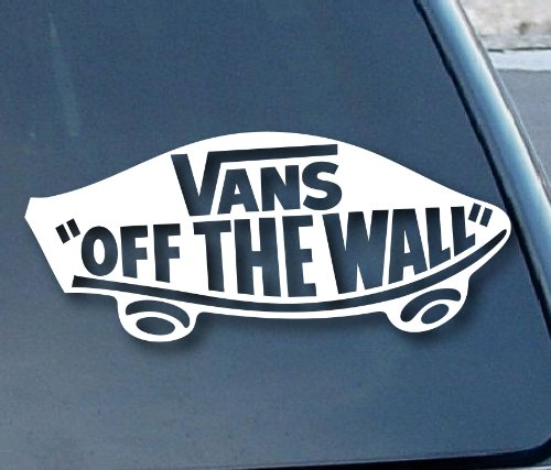 "Vans Off the Wall Car Window Vinyl Decal Sticker 6"" Wide (Color: White)"
