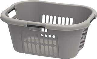 Cosmoplast Plastic Oval Laundry Basket 40L, Grey, IFHHLA348G6