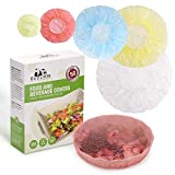 ReDeMM 50 Reusable Elastic Food Bowl Storage Covers - Variety of 5 translucent stretchable sizes and colors - Alternative to foil - plastic wrap- clingwrap - BPA Free - Microwave safe for leftovers