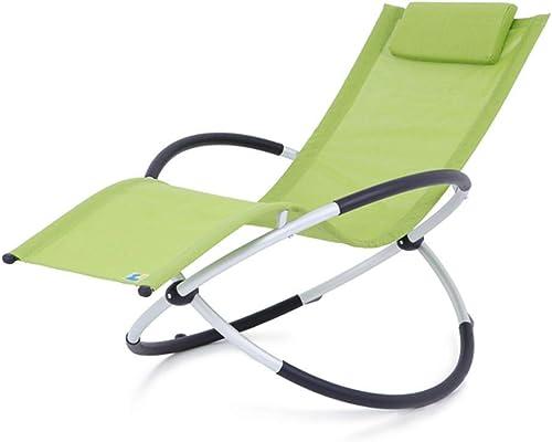 varios tamaños Folding chair Moda Plegable reclinable balcón Almuerzo Almuerzo Almuerzo Descanso Silla Silla de Playa Plegable Mecedora Silla 6 Colors Opcionales  Descuento del 70% barato