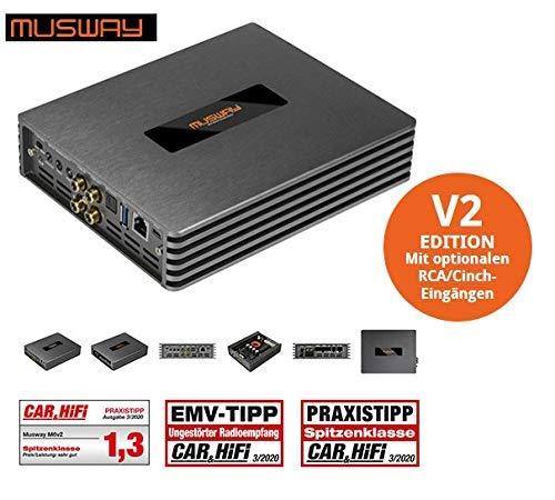 Mustway DSP-AMP M6v2 Digitale 6-kanaals klasse D versterker met 8-kanaals DSP 630 watt RMS
