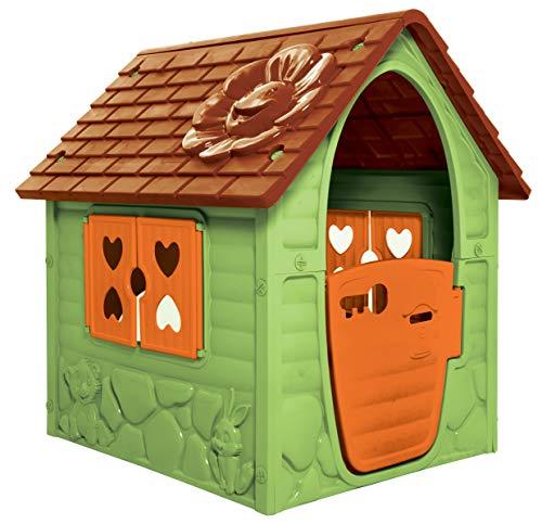 thorberg Domek do zabawy dla dzieci w kolorze niebieskim, różowym lub zielonym (Made in EU) domek dla dzieci (zielony)