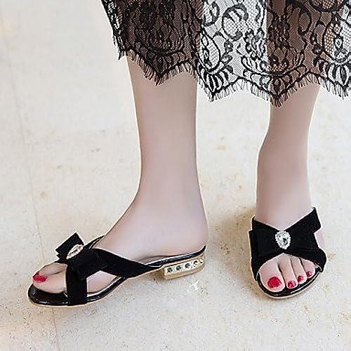 GWY&YFF YFF Sandales Femmes Talon en en Simili Cuir Boucle,noir,US5