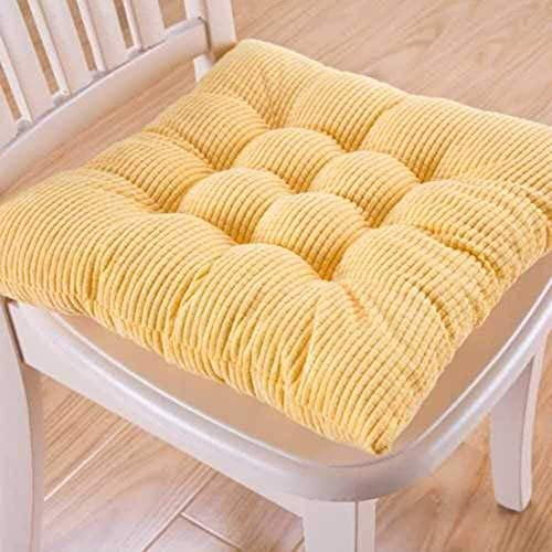 LanXin Square Chair Cushion Non-slip Seat pads Student Office Thicken Tatami Soft Relationships Universal Crowded Buttocks Cushion a (Color : Gelb, Size : 42x42cm(17x17inch))