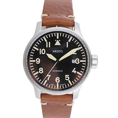 Aristo Orologio da polso da uomo, vintage, orologio da aviatore, automatico, 7H102
